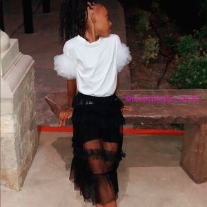 Other - Girls black sheer skirt with shorts